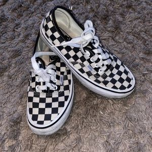 Vans Checkered Shoes Size 5